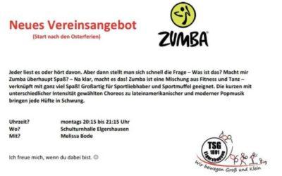 Das gibt es nur bei der TSG-Elgershausen – Zumba als Vereinsangebot!!!!