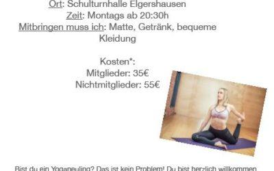 Neues Yoga-Angebot bei der TSG-Elgershausen